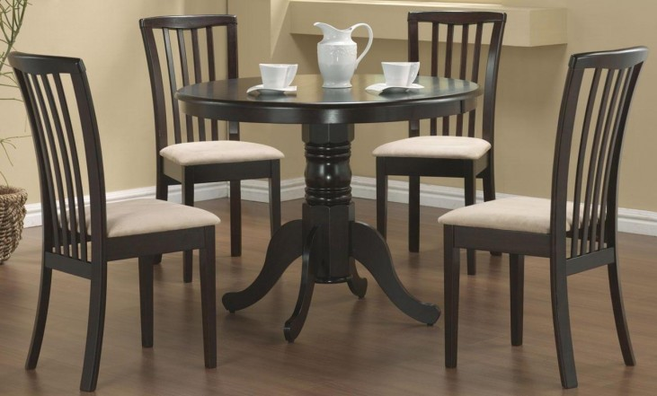 Brannan Cappuccino Round Table Set