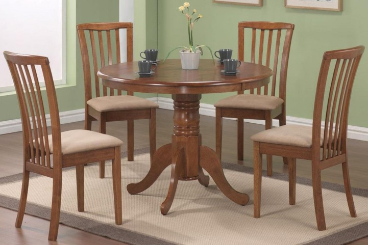 Brannan Oak Round Table Set