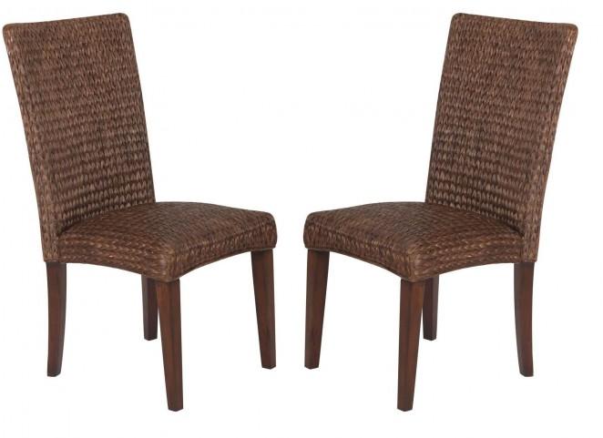 Westbrook Banana Leaf Brown Side Chair Set of 2