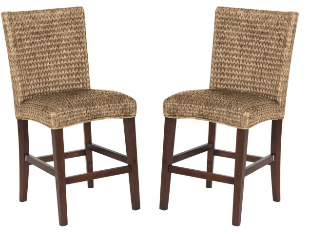 Westbrook Banana Leaf Natural Counter Height Chair Set of 2