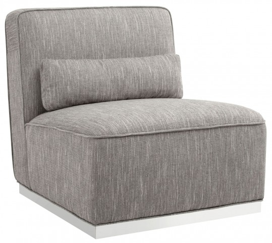 Caledon Hannigan Fog Fabric Swivel Chair