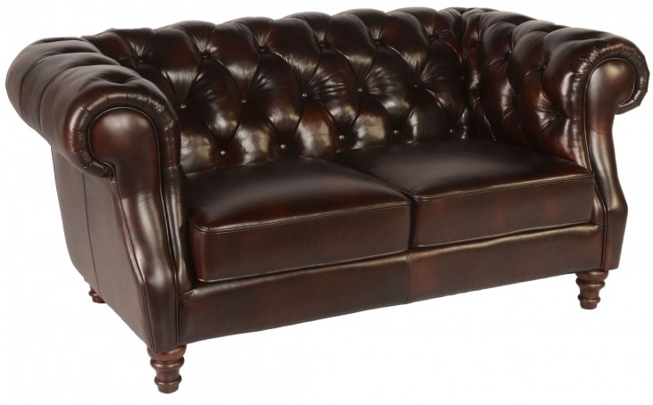 Beaufort Toberlone Leather Loveseat