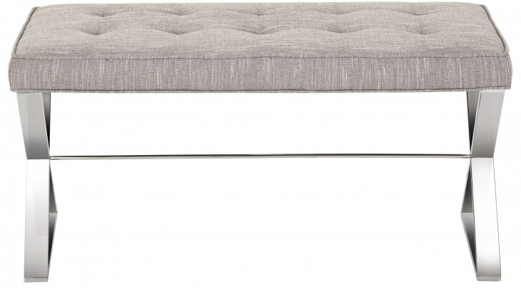 Lennox Hannigan Fog Fabric Bench