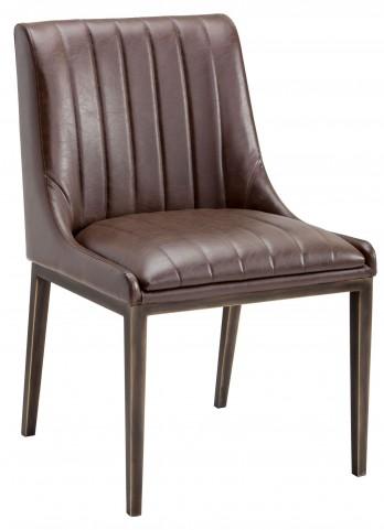Halden Vintage Cognac Dining Chair Set of 2