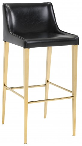 Lawrence Obsidian Black Counter Stool