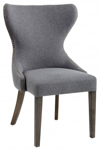 Ariana Dark Grey Fabric Dining Chair