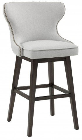 Ariana Light Grey Fabric Swivel Barstool