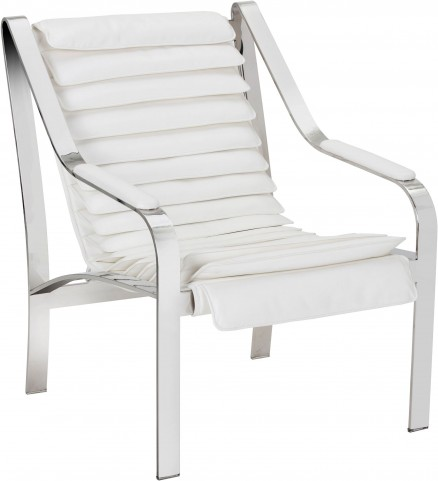 Canberra White Leather Chair
