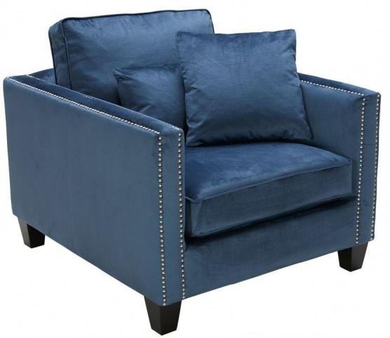 Cathedral Blue Ink Armchair