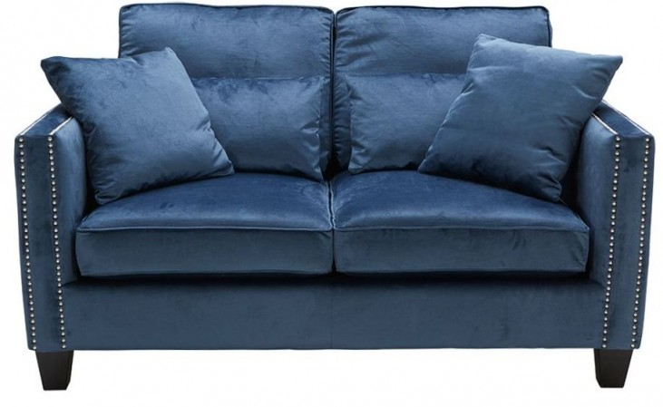 Cathedral Blue Ink Loveseat