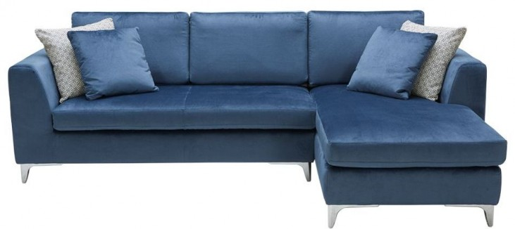 Virgillio Blue Ink Sofa Chaise