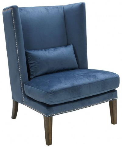 Malibu Blue Ink Wing Chair