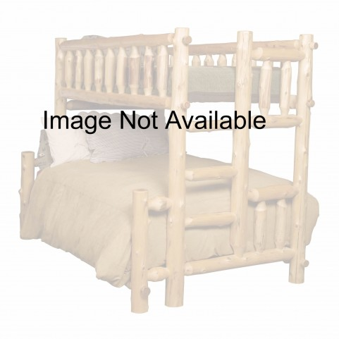 Vintage Cedar Left Full Over Twin Bunk Bed