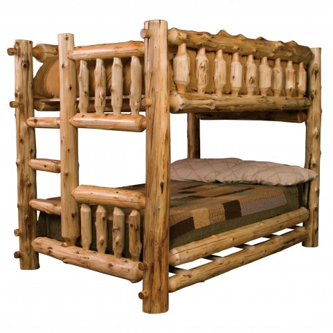 Cedar Left Twin Over Twin Bunk Bed