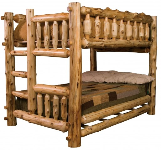 Cedar Left Full Over Full Bunk Bed