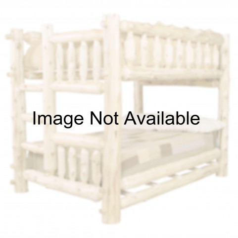 Vintage Cedar Left Queen Over Twin Bunk Bed