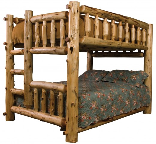 Cedar Left Full Over Queen Bunk Bed