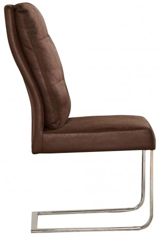 Brown and Nut Brown Side Chair Set of 2