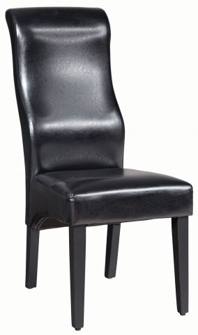 Black and Deep Merlot Side Chair Set of 2