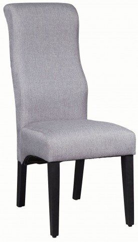 Grey and Deep Merlot Side Chair Set of 2