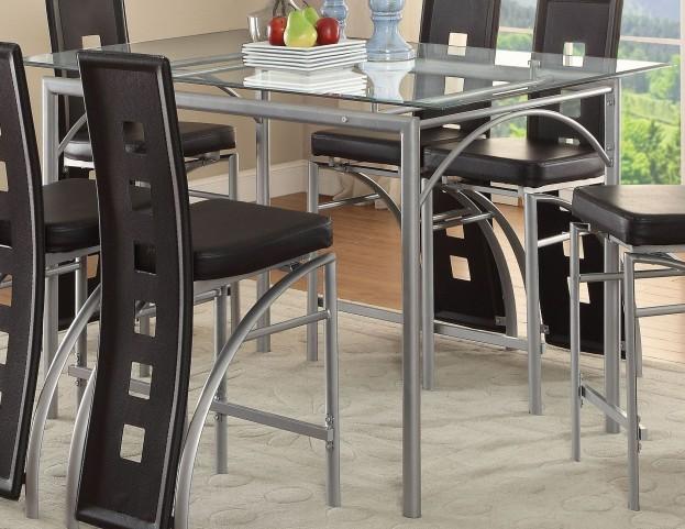 Los Feliz Matte Silver Counter Height Table
