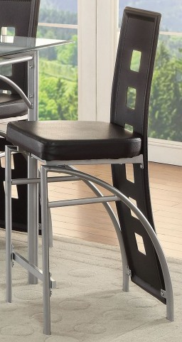 Los Feliz Matte Silver Counter Height Stool Set of 2