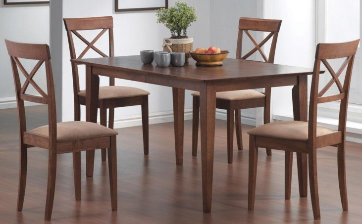 Mix & Match Walnut Rectangular Dining Room Set