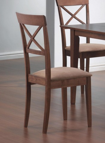 Mix & Match Walnut Cross Back Walnut Chair Set of 2