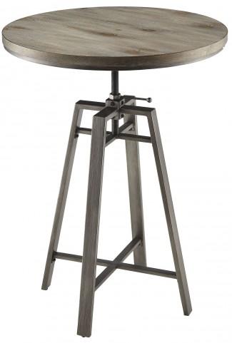 Wire Brushed Nutmeg Adjustable Bar Table