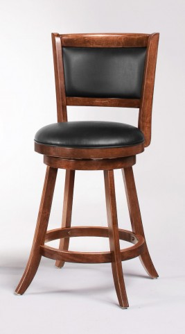 "Espresso 24"" Swivel Bar Stool 101919 Set of 2"
