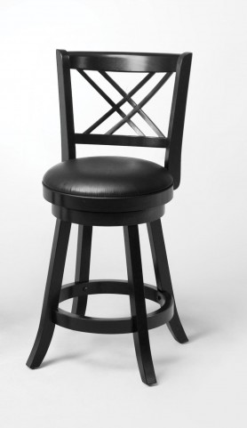 "Black 24"" Bar Stool 101959 Set of 2"