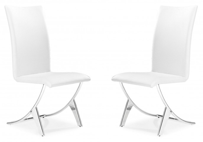 Delfin Dining Chair White Set of 2