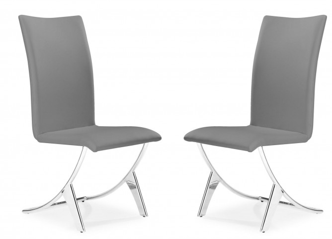 Delfin Gray Dining Chair Set of 2