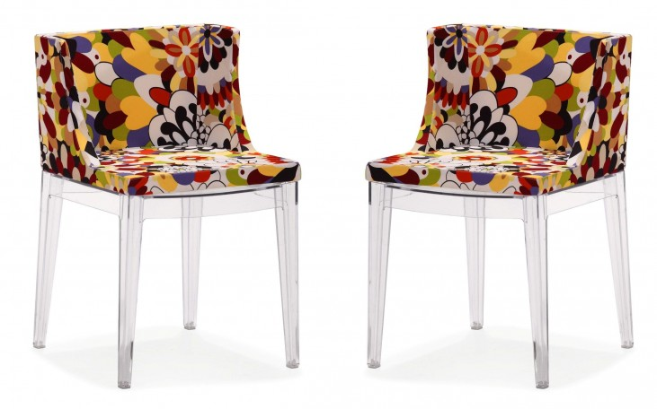 Pizzaro Dining Chair Multicolor Set of 2