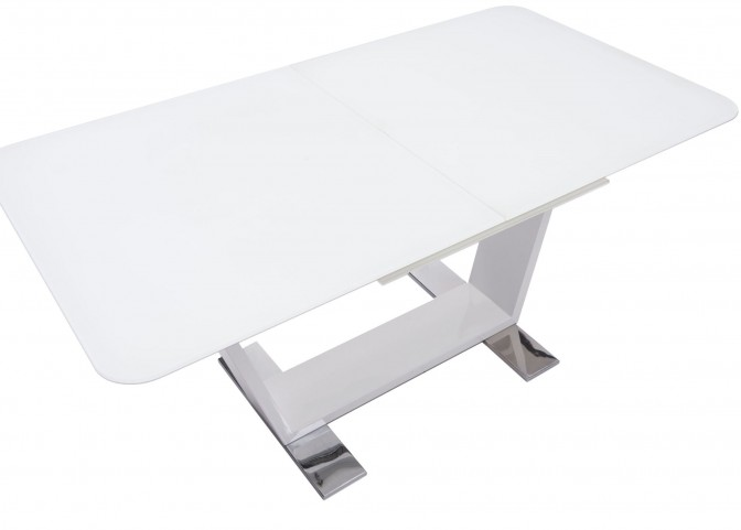 St Charles White Extendable Rectangular Dining Table