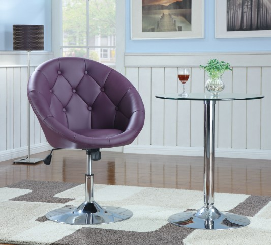 102581 Purple Swivel Chair