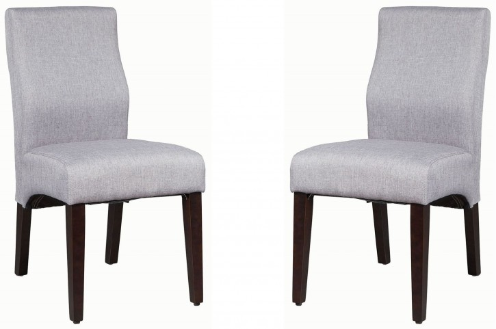 Lowry Grey and Dark Cappuccino Side Chair Set of 2