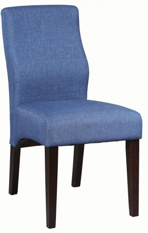 Cabianca Dark Blue and Black Side Chair Set of 2