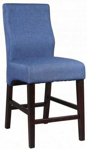 Dorsett Dark Blue Counter Height Stool Set of 2