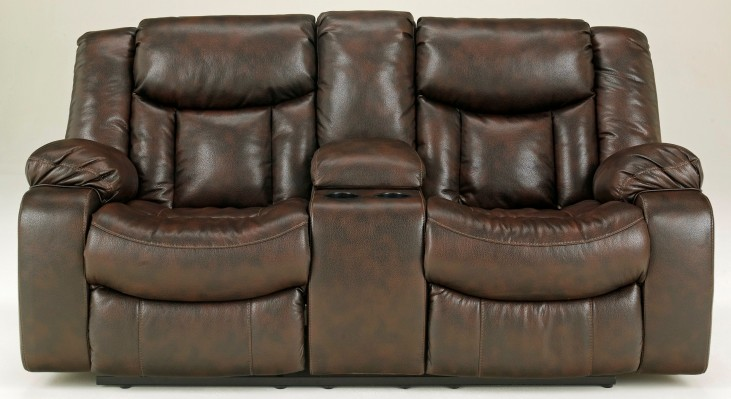 Carnell Double Power Reclining Loveseat with Console