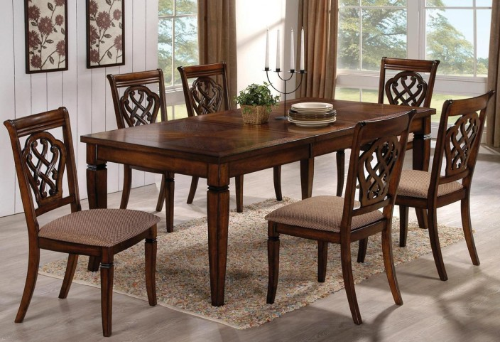 Oak Rectangular Dining Room Set 1033