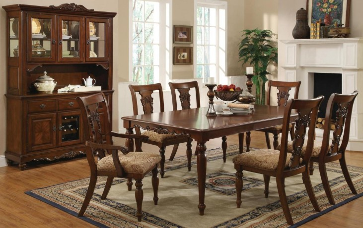 Addison Cherry Rectangular Dining Room Set