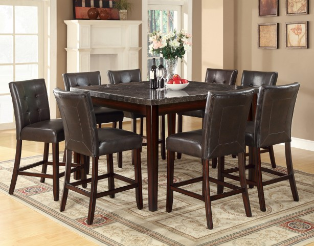 Milton Dark Cappuccino Counter Height Dining Room Set