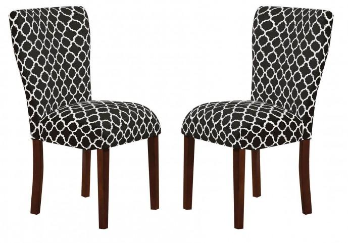 Parson Black & White Side Chair Set of 2