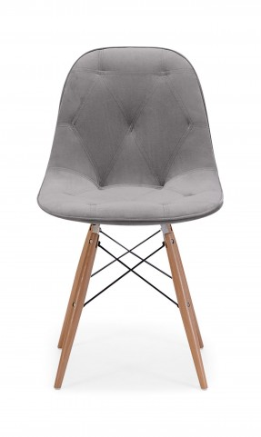 Probability Gray Velour Chair