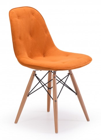Probability Orange Velour Chair