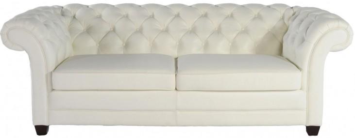 Victoria White Leather Sofa