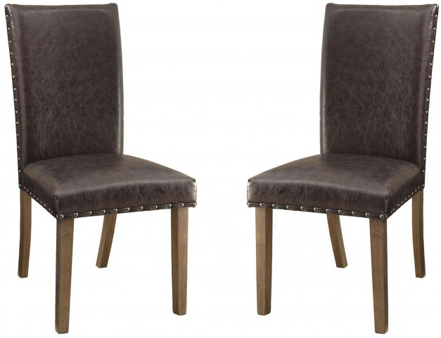 Brown Parsons Chairs Set of 2