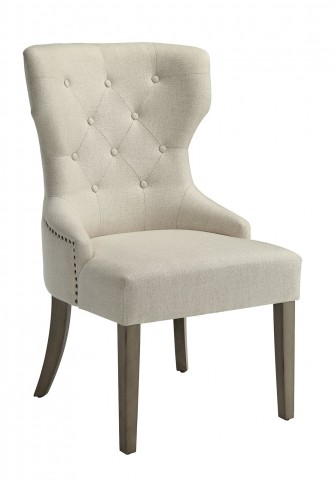 Florence Beige Fabric Side Chair