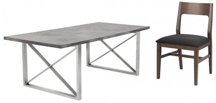 Catalan Sealed Concrete Top Rectangular Dining Room Set